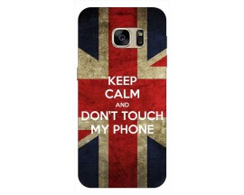 Husa Silicon Soft Upzz Print Samsung S7 Edge Model Keep Calm 1