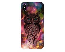 Husa Silicon Soft Upzz Print iPhone Xs sau X Model Sparkle Owl