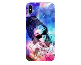 Husa Silicon Soft Upzz Print iPhone Xs sau X Model Universe Girl