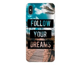 Husa Silicon Soft Upzz Print iPhone Xs Max Model Dreams