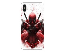 Husa Silicon Soft Upzz Print iPhone Xs Max Model Antihero