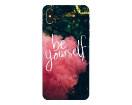 Husa Silicon Soft Upzz Print iPhone Xs Model Be Yourself