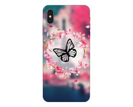 Husa Silicon Soft Upzz Print iPhone Xs Model Butterfly 1