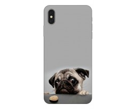 Husa Silicon Soft Upzz Print iPhone Xs Model Dog