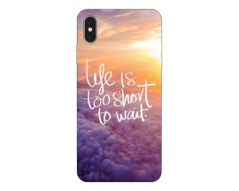 Husa Silicon Soft Upzz Print iPhone Xs Model life