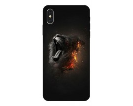 Husa Silicon Soft Upzz Print iPhone Xs Model Lion