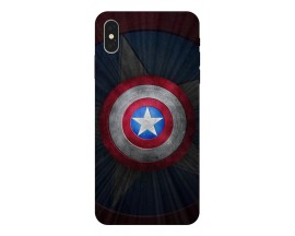 Husa Silicon Soft Upzz Print iPhone Xs Model Shield 2