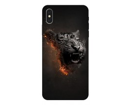 Husa Silicon Soft Upzz Print iPhone Xs Model Tiger