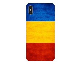 Husa Silicon Soft Upzz Print iPhone Xs Model Tricolor