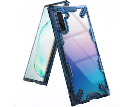 Husa Premium Ringke Fushion X Samsung Galaxy Note 10 Albastru Transparent