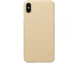 Husa Slim Nillkin Frosted Cu Stand Birou iPhone Xs Gold