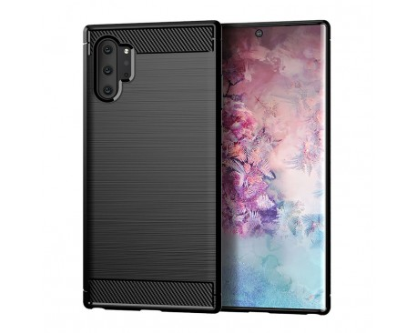 Husa Spate Forcell Carbon Pro Samsung Galaxy Note 10 Negru Silicon