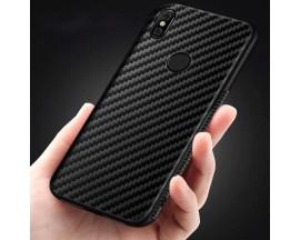 Husa Spate Upzz Carbon Fiber Samsung Galaxy A10, Silicon, Slim Neagra