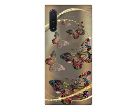 Husa Premium Upzz Print Samsung Galaxy Note 10 Model Golden Butterfly