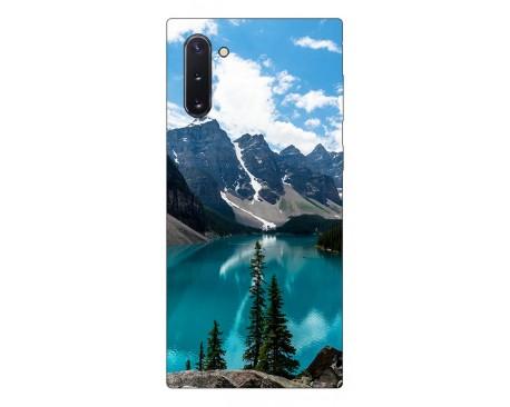 Husa Premium Upzz Print Samsung Galaxy Note 10 Model Blue