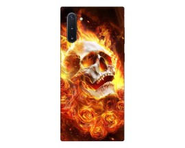 Husa Premium Upzz Print Samsung Galaxy Note 10 Model Flame Skull