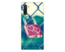 Husa Premium Upzz Print Samsung Galaxy Note 10 Model Heart Lock