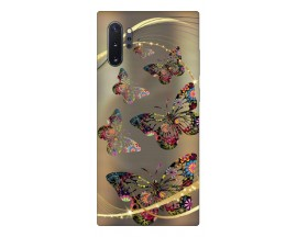 Husa Premium Upzz Print Samsung Galaxy Note 10+ Plus Model Golden Butterfly