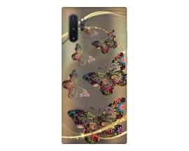 Husa Premium Upzz Print Samsung Galaxy Note 10+ Plus Model Golden Butterfly