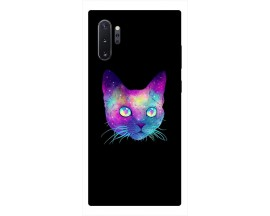 Husa Premium Upzz Print Samsung Galaxy Note 10+ Plus Model Neon Cat