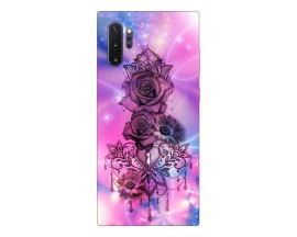 Husa Premium Upzz Print Samsung Galaxy Note 10+ Plus Model Neon Rose