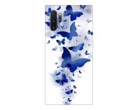 Husa Premium Upzz Print Samsung Galaxy Note 10+ Plus Model Blue Butterflye