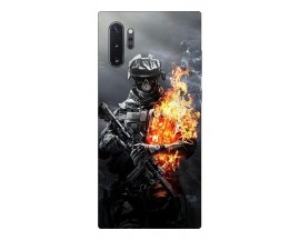 Husa Premium Upzz Print Samsung Galaxy Note 10+ Plus Model Soldier