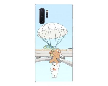 Husa Premium Upzz Print Samsung Galaxy Note 10+ Plus Model Three Bears