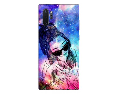 Husa Premium Upzz Print Samsung Galaxy Note 10+ Plus Model Universe Girl