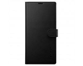 Husa Originala Spigen Wallet S Tip Carte Samsung Galaxy Note 10+ Plus Negru