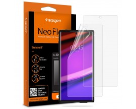 Folie Silicon Premium Neo Flex Spigen Samsung Note 10 Transparenta Case Friendly 2 Bucati In Pachet