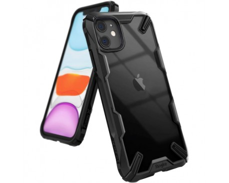 Husa Premium Ringke Fushion X iPhone 11 Negru Transparent