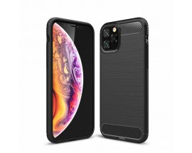 Husa Spate Forcell Carbon Pro iPhone 11 Pro Max Negru Silicon