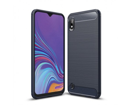 Husa Spate Forcell Carbon Pro Samsung Samsung Galaxy A10 Silicon , Dark Blue