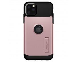 Husa Originala Premium Spigen Slim Armor iPhone 11 Pro Max , Negru Rose Gold