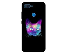 Husa Premium Upzz Print Xiaomi Mi 8 Lite Model Neon Cat