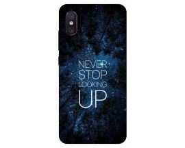 Husa Premium Upzz Print Xiaomi Mi 8 Pro Never Stop