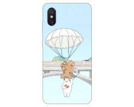 Husa Premium Upzz Print Xiaomi Mi 8 Pro Three Bears