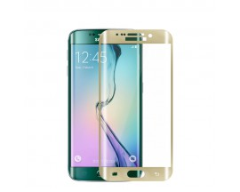 Folie Sticla Securizata 9H Mixon SAMSUNG S6 EDGE Gold