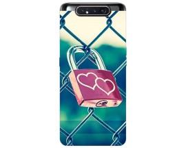 Husa Premium Upzz Print Samsung Galaxy A80 Model Heart Lock