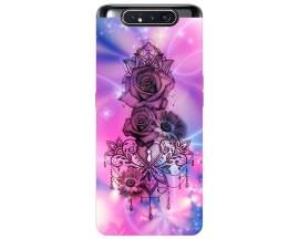 Husa Premium Upzz Print Samsung Galaxy A80 Model Neon Rose