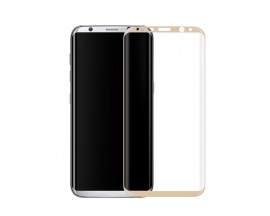 Folie Sticla Securizata 9H 3D FULL COVER SAMSUNG S8 Plus G955F gold