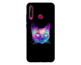 Husa Premium Upzz Print Huawei Honor 20 Lite Model Neon Cat