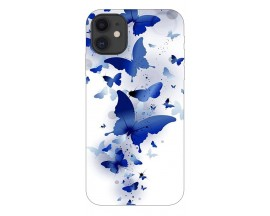 Husa Premium Upzz Print iPhone 11 Model Blue Butterflies