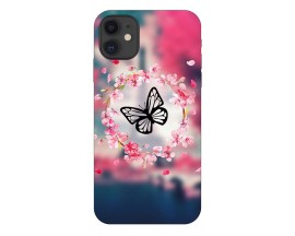 Husa Premium Upzz Print iPhone 11 Model Butterfly