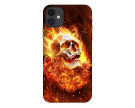 Husa Premium Upzz Print iPhone 11 Model Flame Skull