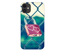 Husa Premium Upzz Print iPhone 11 Model Heart Lock