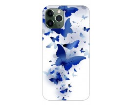 Husa Premium Upzz Print iPhone 11 Pro Model Blue Butterfly