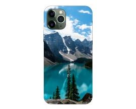Husa Premium Upzz Print iPhone 11 Pro Model Blue
