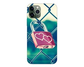 Husa Premium Upzz Print iPhone 11 Pro Model Heart Lock